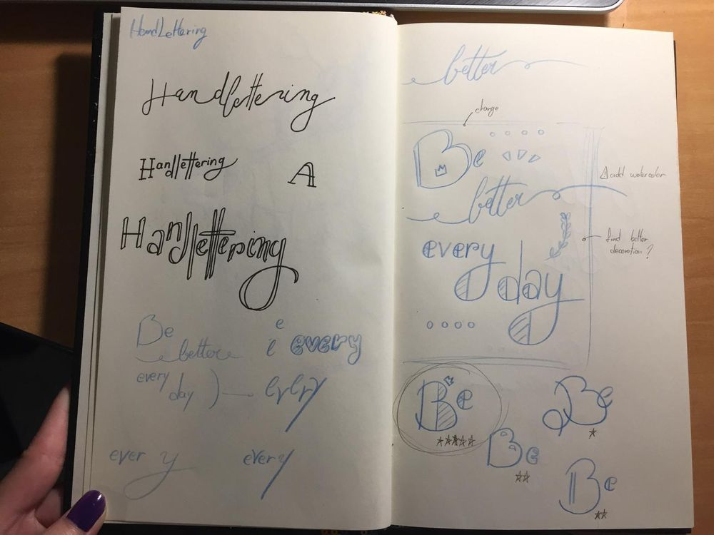 Lettering - image 2 - student project