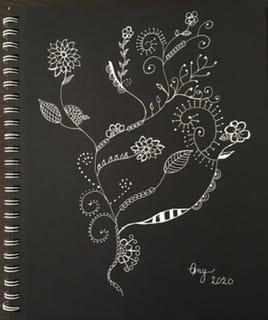 Flower Doodle - image 1 - student project