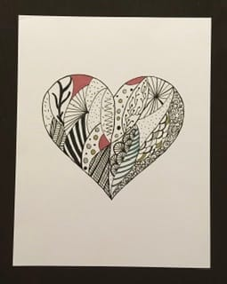 My Heart Drawing - image 1 - student project