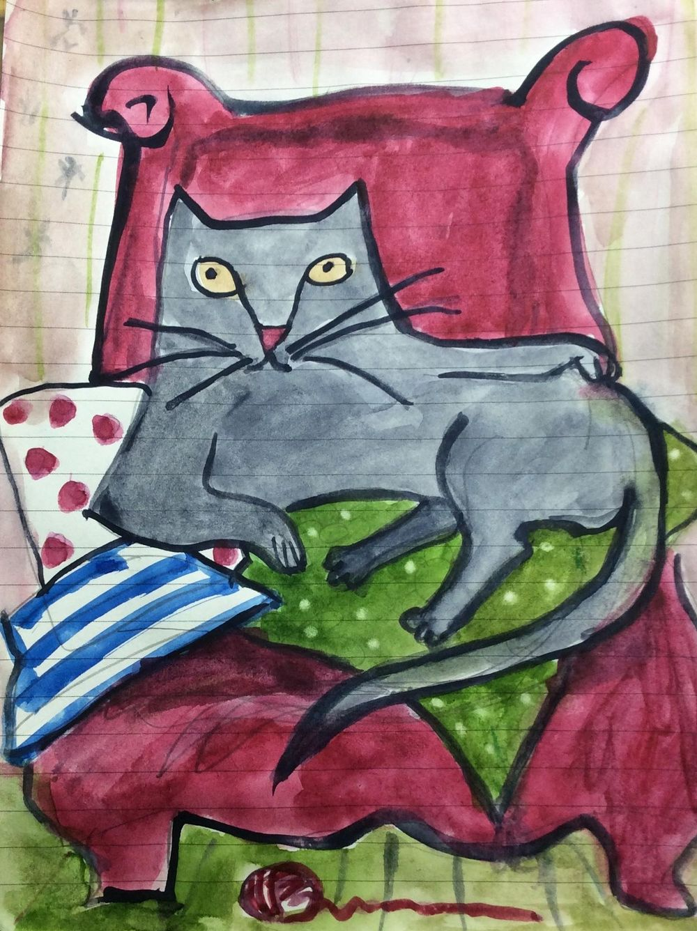 Drawing Arthur, my cat - image 2 - student project