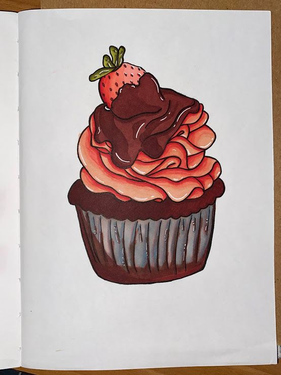 Cupcake Drawing - image 1 - student project