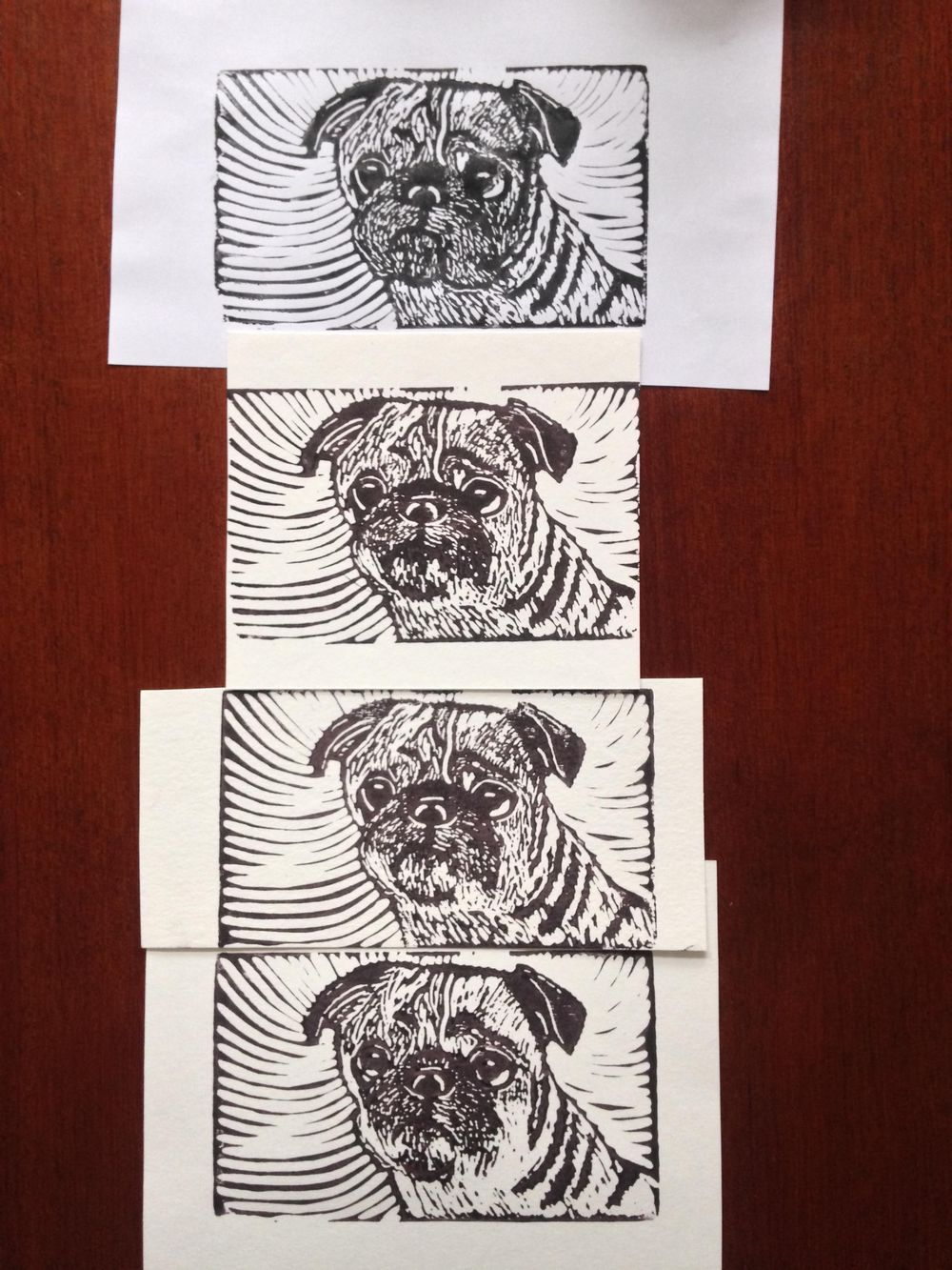 Pack of Pug Postcards - image 4 - student project