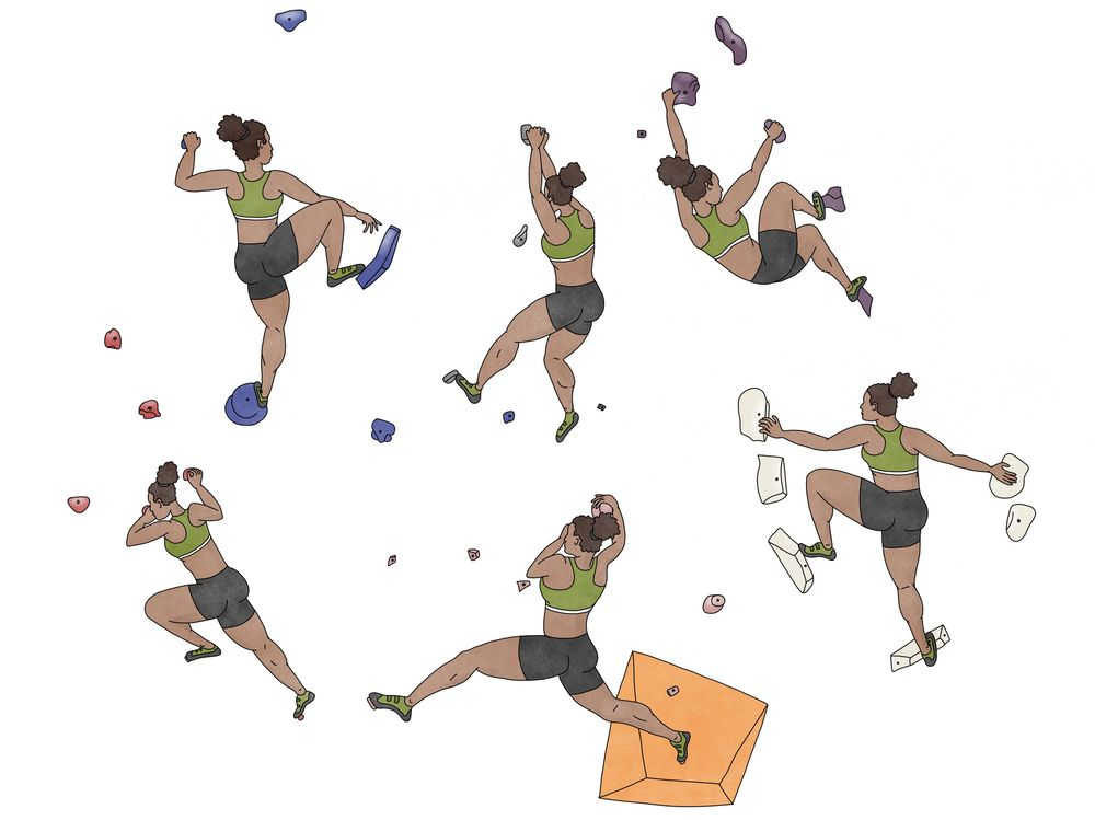 Bouldering Poses - image 1 - student project