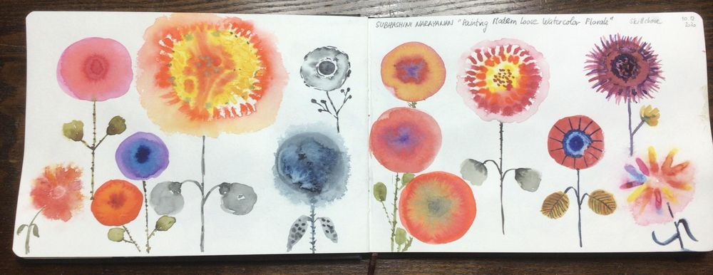 Modern Florals with Subhashini Narayanan - image 3 - student project