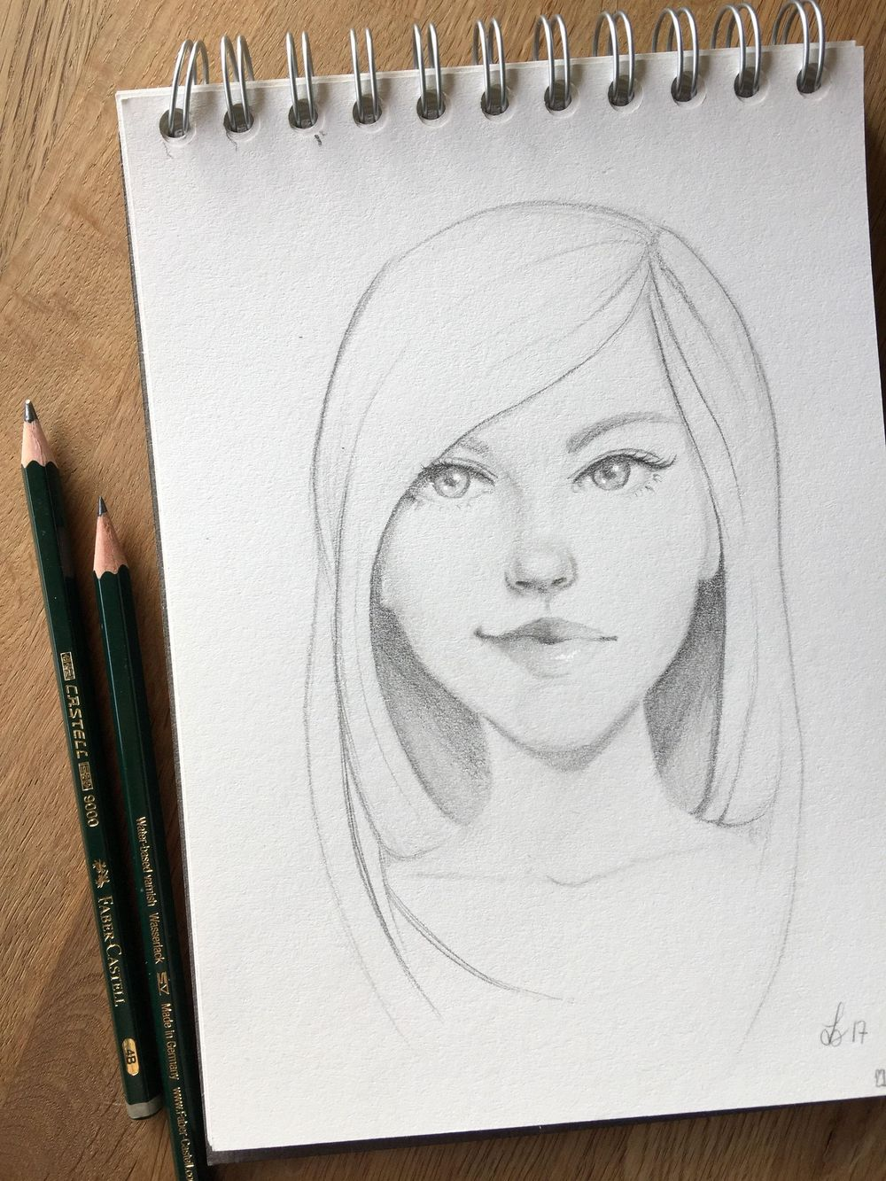Girl sketches with Gabrielle's technique and some of my own, old habits ;) - image 1 - student project