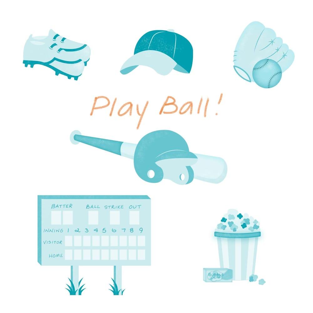 Andrea's baseball spot illustrations - image 3 - student project