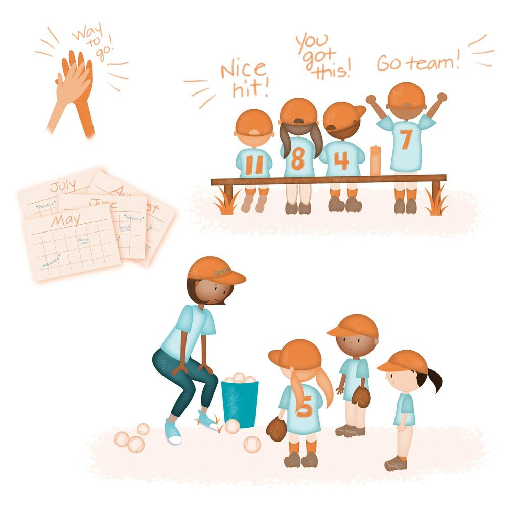 Andrea's baseball spot illustrations - image 4 - student project