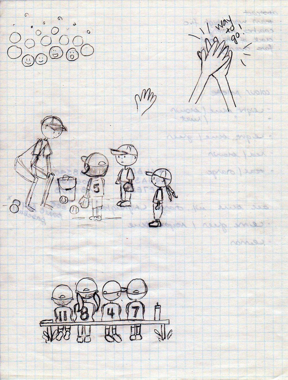 Andrea's baseball spot illustrations - image 2 - student project