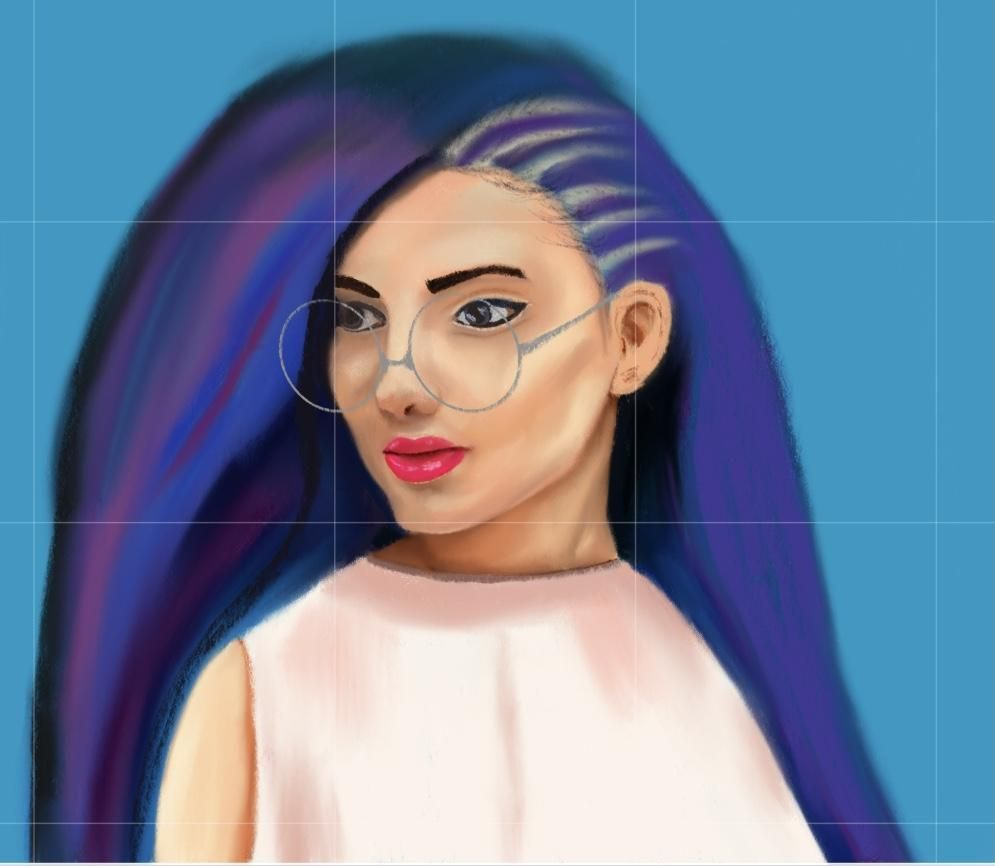 Portrait painting on procreate - image 1 - student project