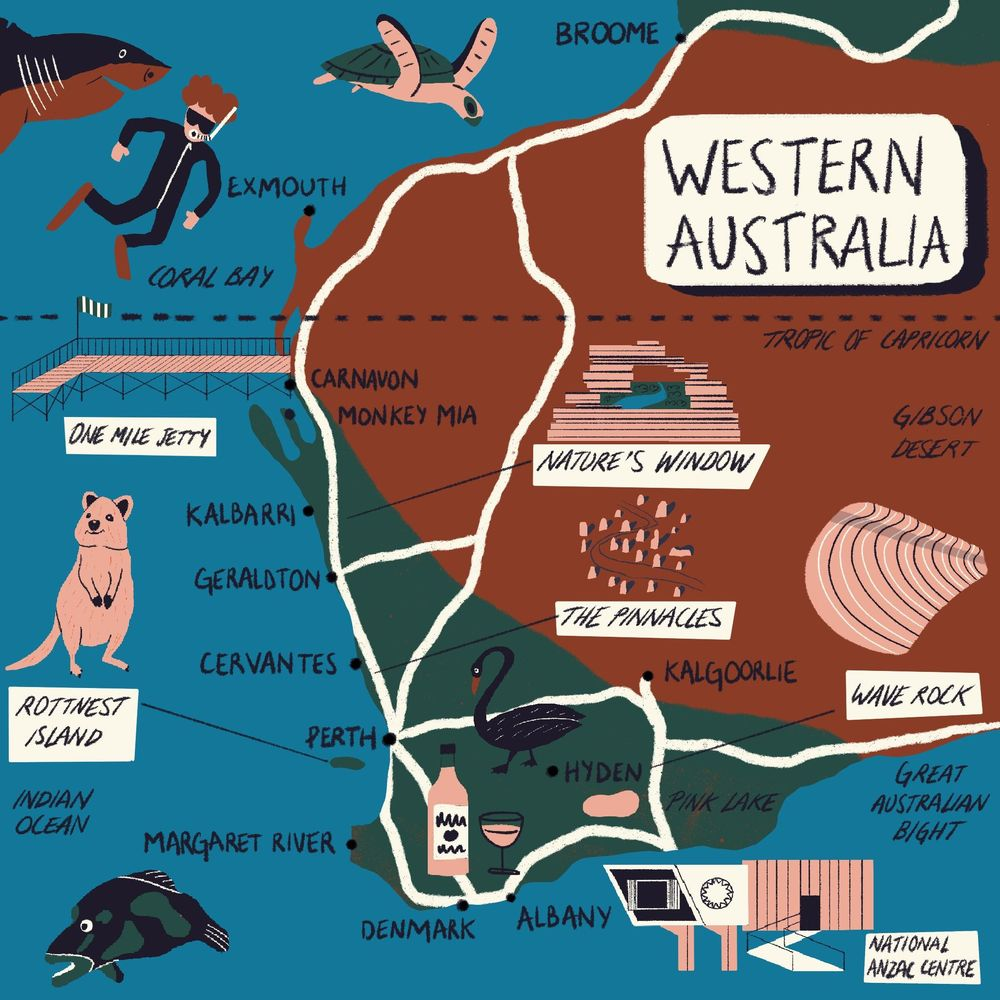 Western Australia Map - image 1 - student project