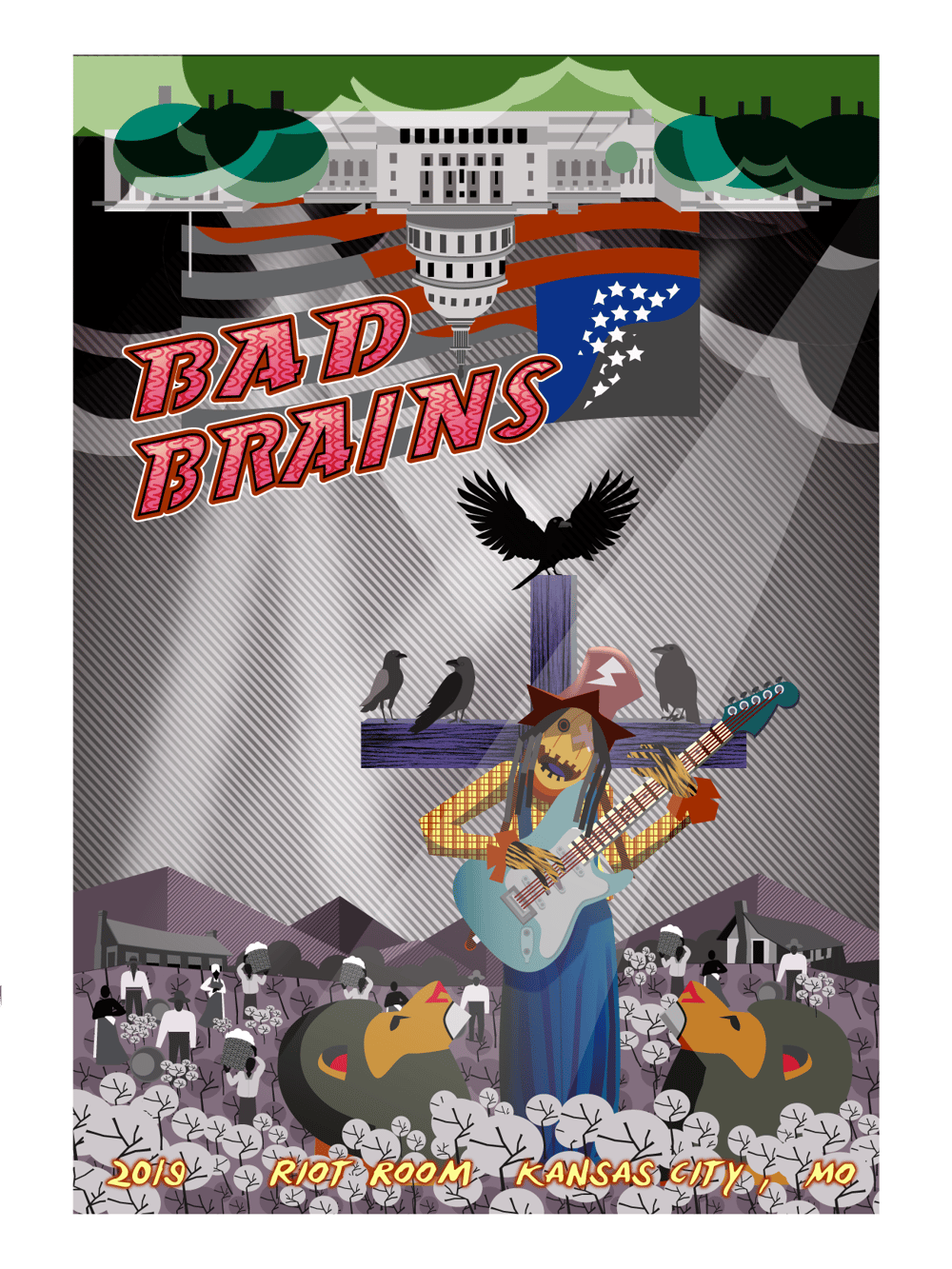 rockposter (Bad Brains) - image 4 - student project