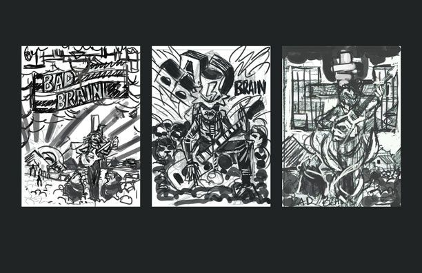 rockposter (Bad Brains) - image 1 - student project