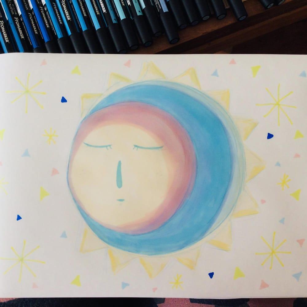 Sleepy Moon - image 1 - student project