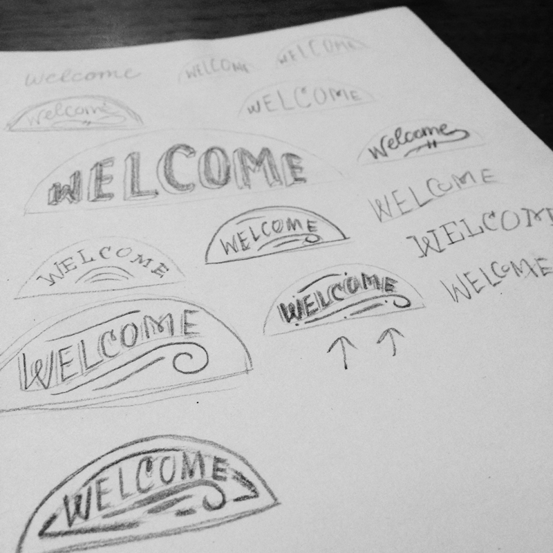 Beachy Wooden Welcome Sign - image 1 - student project