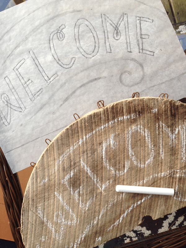 Beachy Wooden Welcome Sign - image 3 - student project