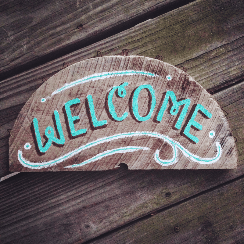 Beachy Wooden Welcome Sign - image 5 - student project