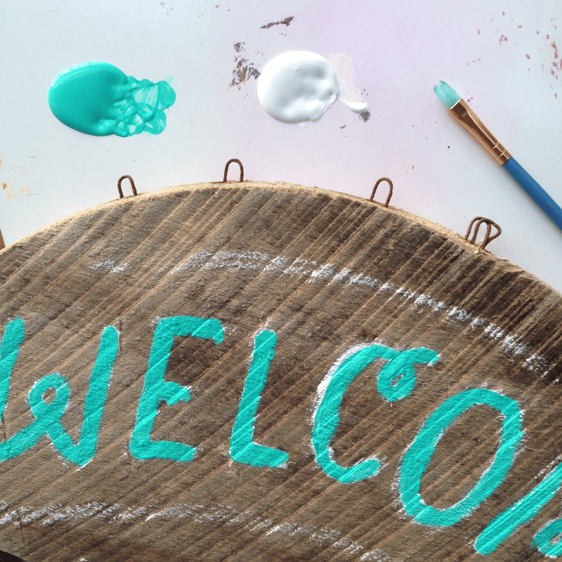Beachy Wooden Welcome Sign - image 4 - student project