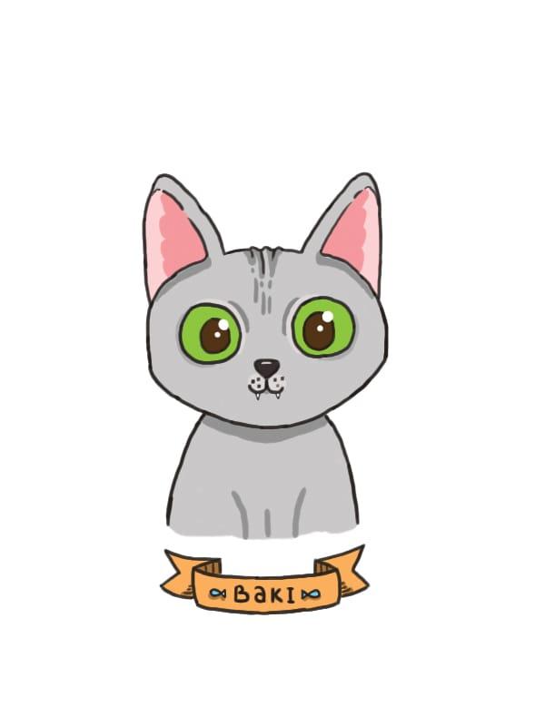My cat's portrait - image 1 - student project
