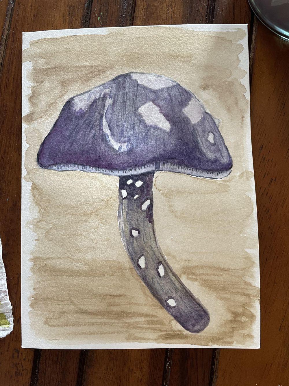 Mushroom card - image 2 - student project