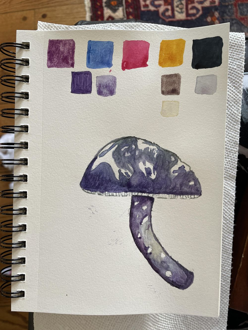 Mushroom card - image 1 - student project