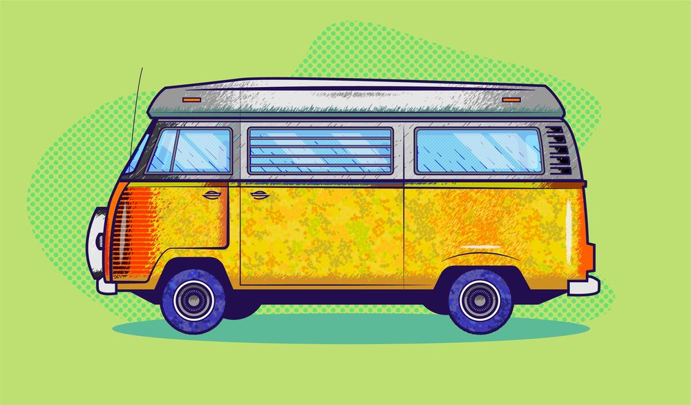 Learn Illustrator - VW Van - image 1 - student project