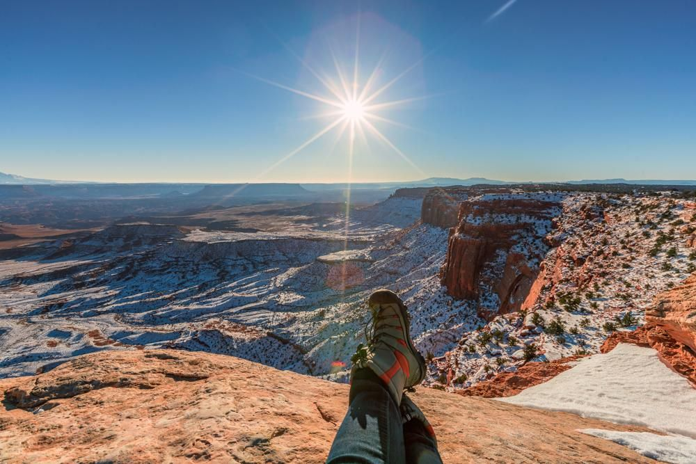 Looking down at the canyon in Moab - image 3 - student project
