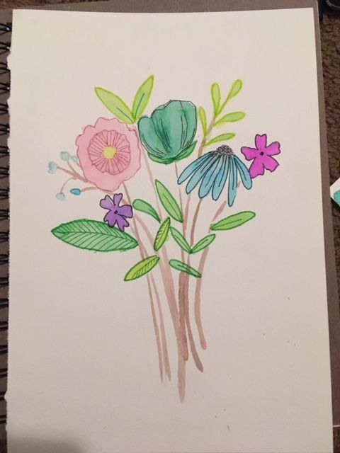 Watercolor florals! - image 2 - student project
