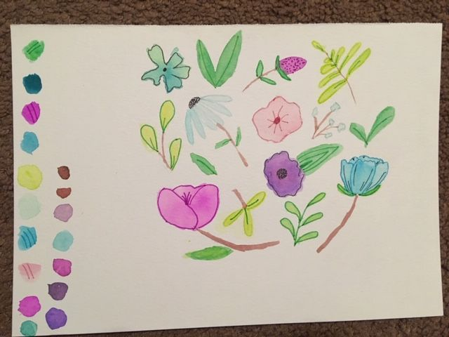 Watercolor florals! - image 1 - student project
