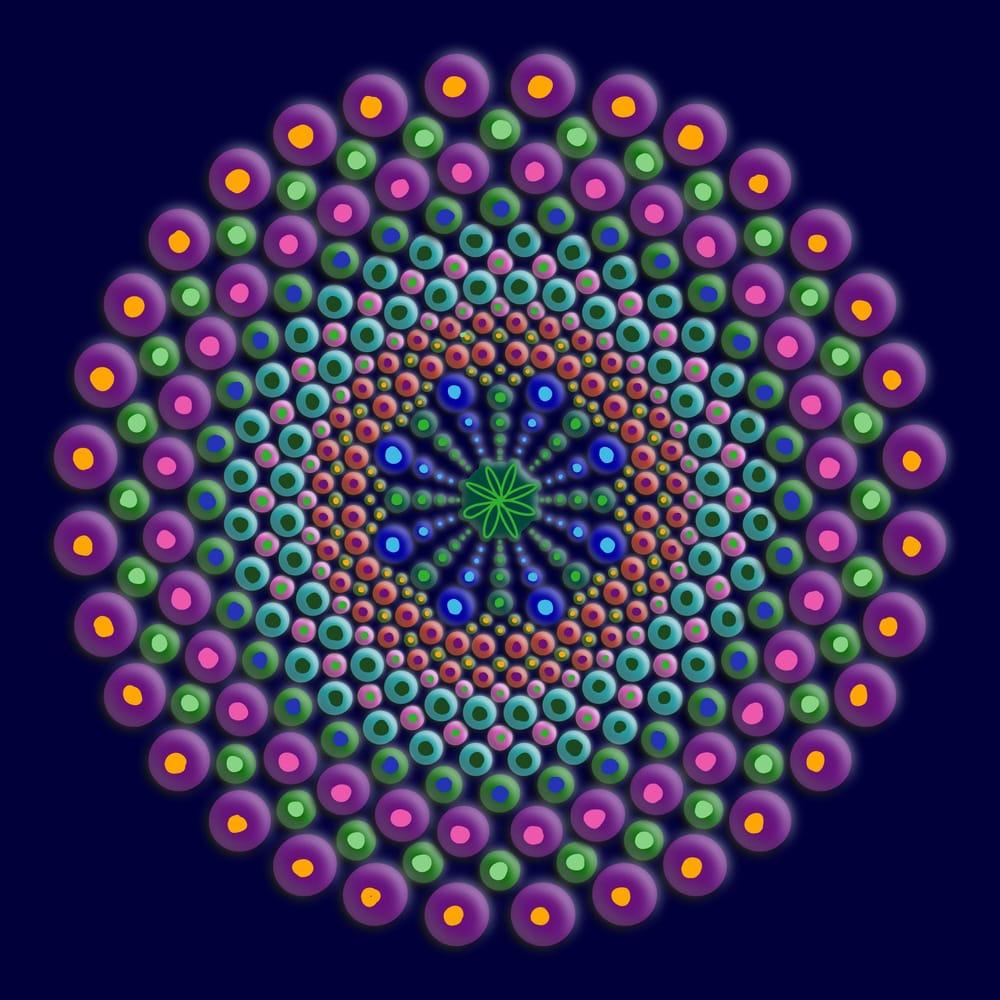 Dot Mandala - image 1 - student project