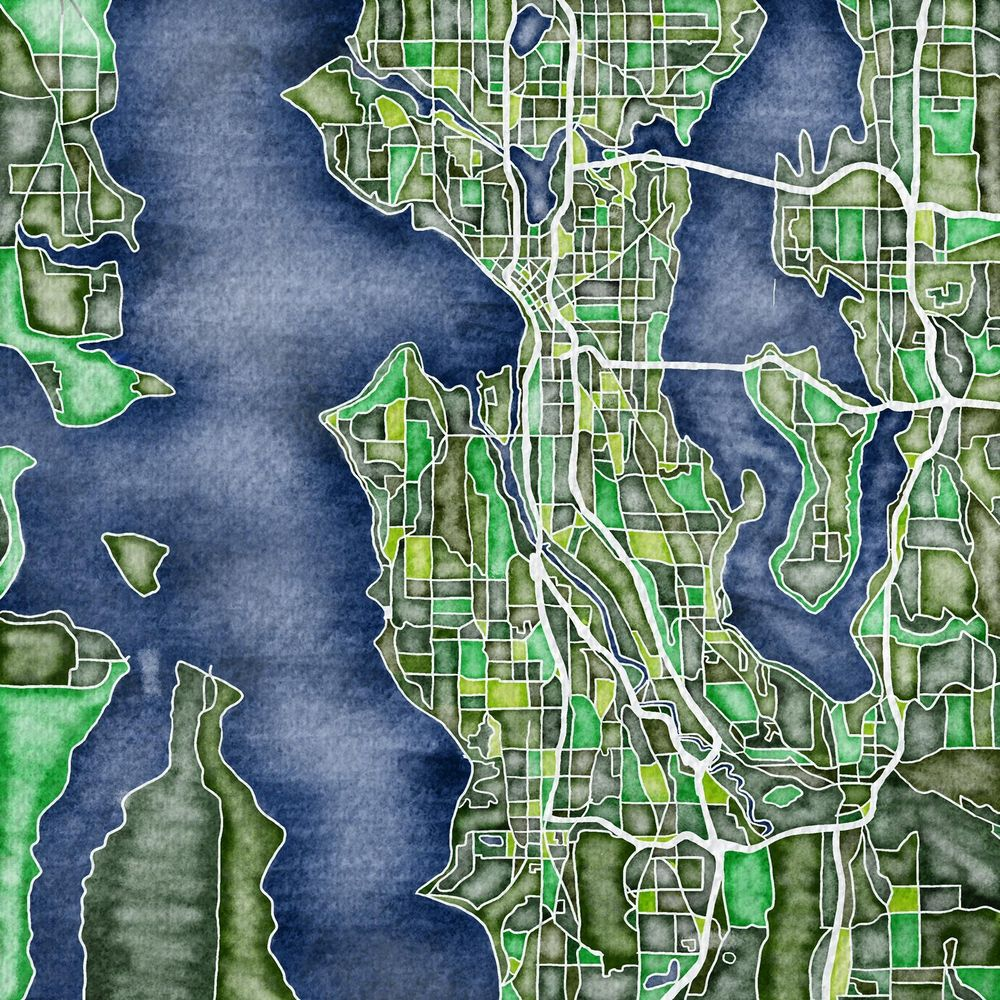 Illustrated Map- Seattle - image 1 - student project