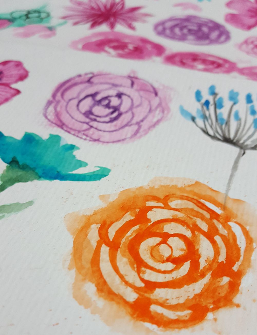 watercolor floral practicas - image 1 - student project