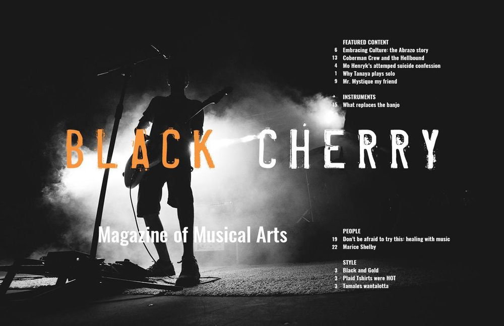the BLACK CHERRY: my first attempt at a Magazine Spread - image 2 - student project