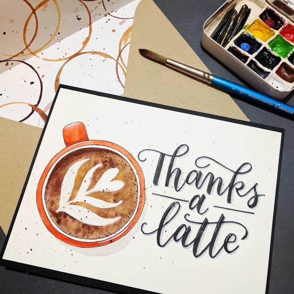 Latte Thank you Card - image 1 - student project