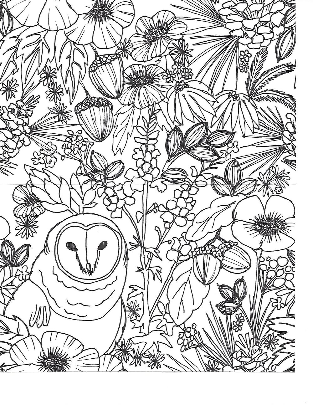 Owl Pattern - image 2 - student project