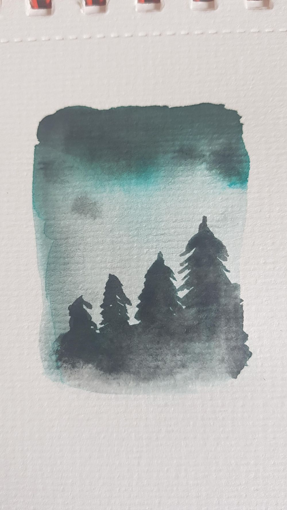 Watercolour experiments - image 1 - student project