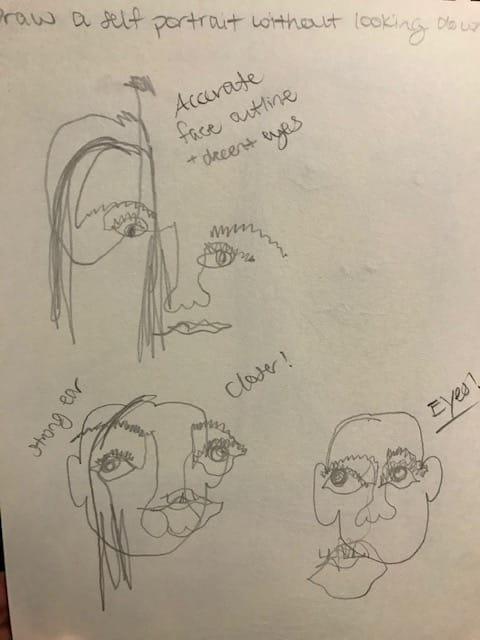 Self Portrait Exercises - image 2 - student project