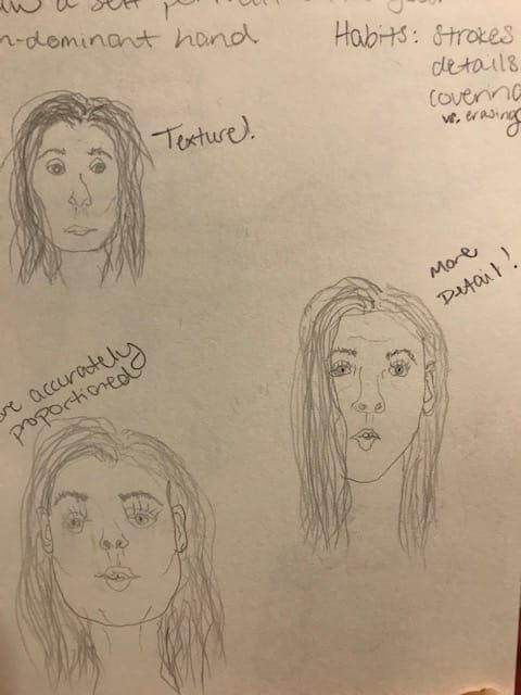 Self Portrait Exercises - image 4 - student project