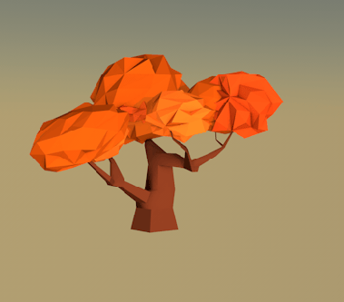 Low-poly tree - image 1 - student project