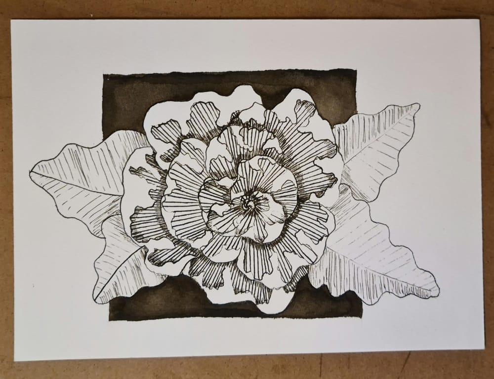 Dip-pen flower - image 2 - student project