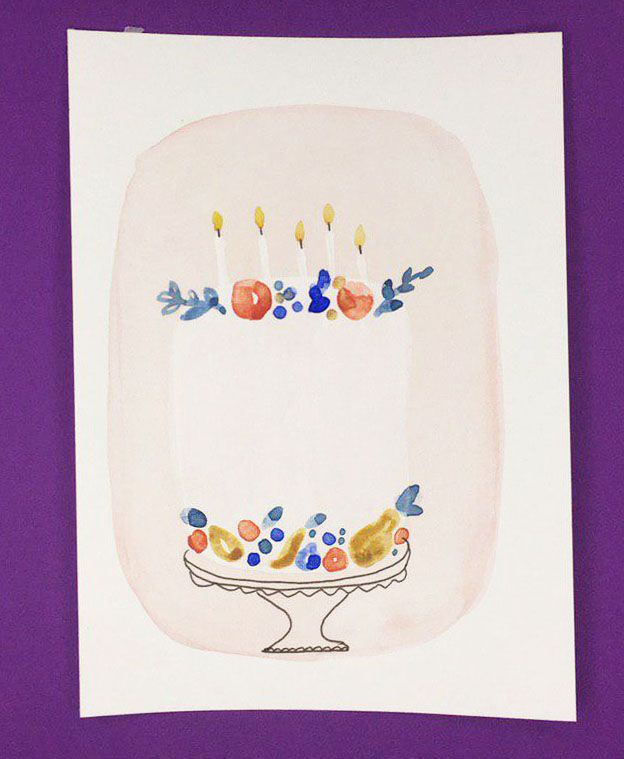 Watercolor Cakes: Create an Easy Birthday Card - image 4 - student project