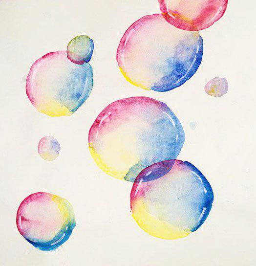 Loose & Lively Watercolor Bubbles - image 1 - student project