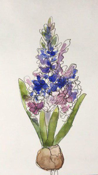 Spring Flowers in Watercolor: explore different Watercolor Styles - image 1 - student project