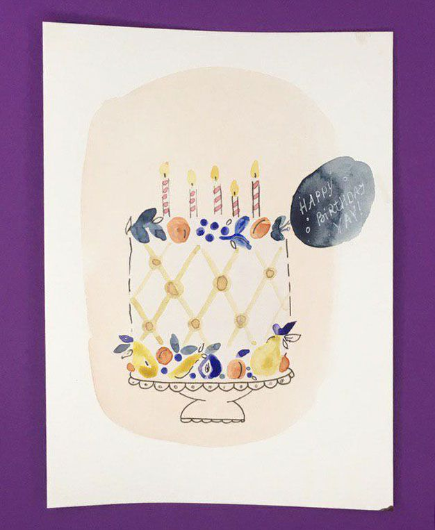 Watercolor Cakes: Create an Easy Birthday Card - image 3 - student project