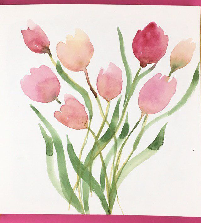 Spring Flowers in Watercolor: explore different Watercolor Styles - image 3 - student project