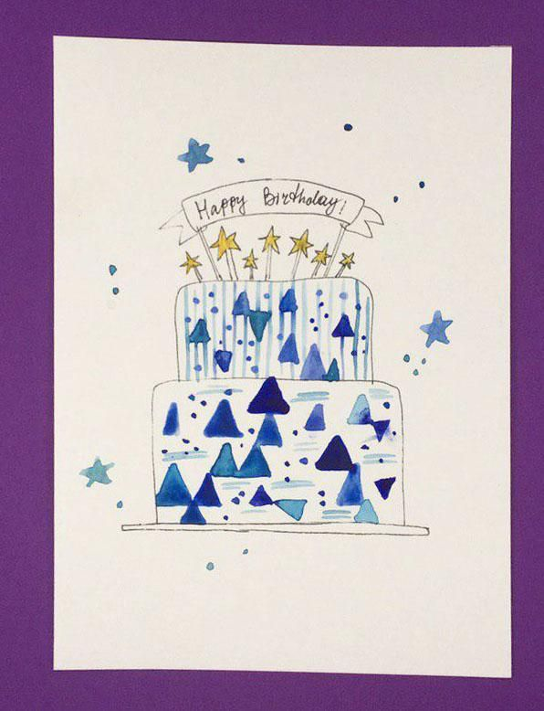 Watercolor Cakes: Create an Easy Birthday Card - image 2 - student project