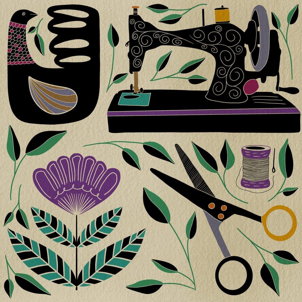 Folk Illustrations - image 2 - student project