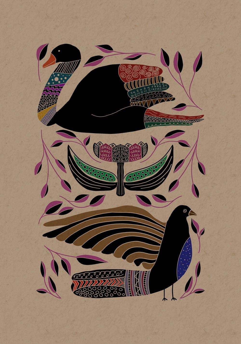 Folk Illustrations - image 1 - student project
