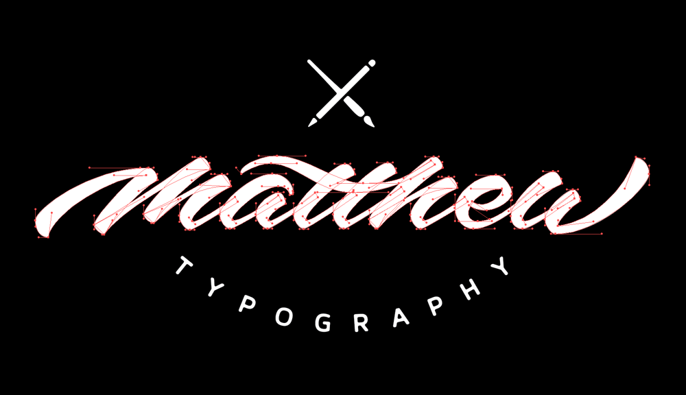 Sample Project: My first name as a signature logo - image 9 - student project