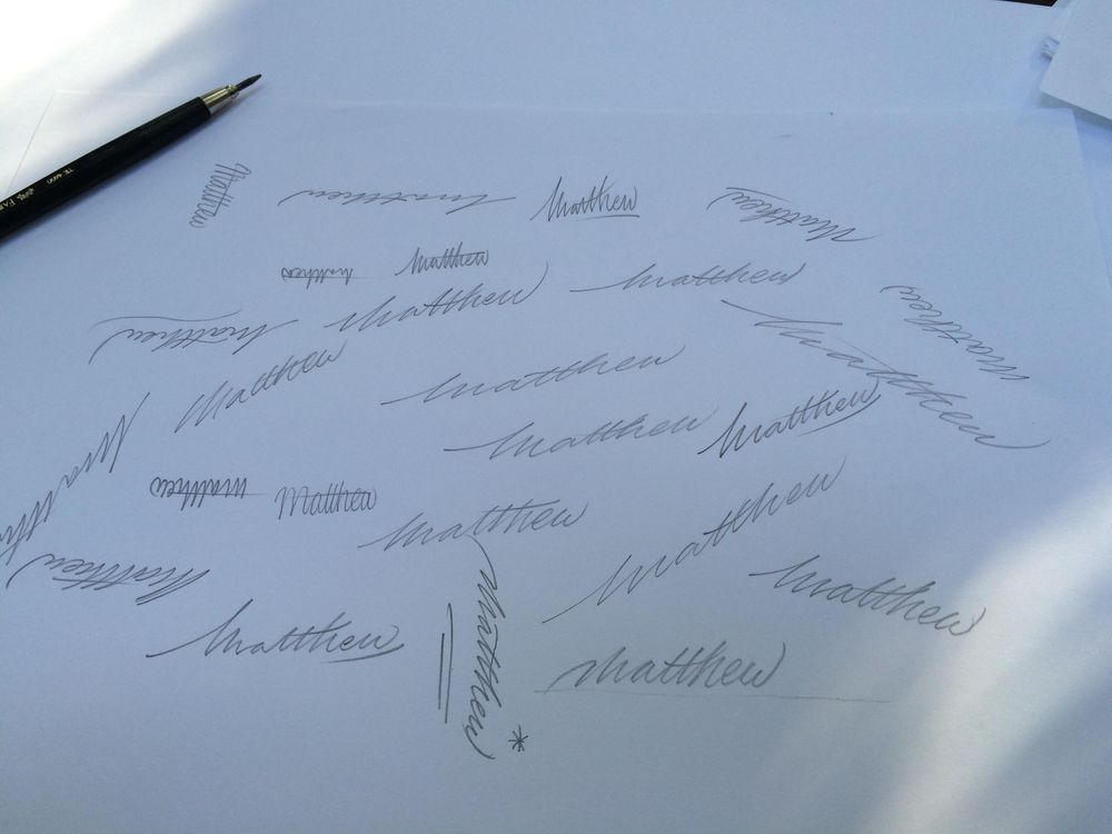 Sample Project: My first name as a signature logo - image 4 - student project