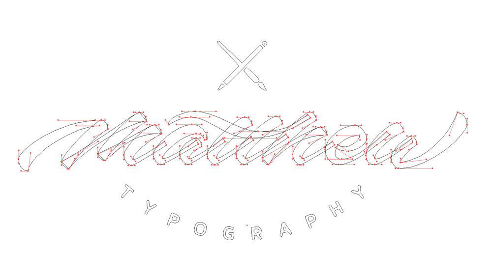 Sample Project: My first name as a signature logo - image 10 - student project